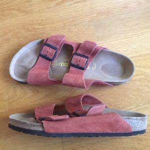Birkenstocks. Arizona. Size 40. Suede. Rust color